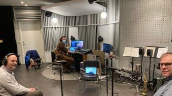 Mikael Hallgren och Krister Insulander i studion och Ove Nilsson på länk från Skellefteå..