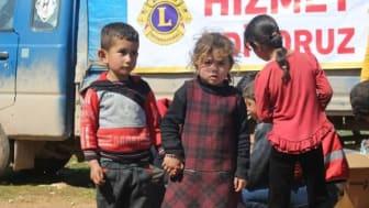 Lions Sverige hjälper flyktingar i Syrien.