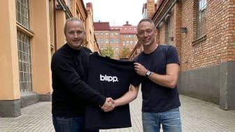 Blipps nya CMO Jonas Eifrém Strinnholm tillsammans med vd Jonny LIndén.
