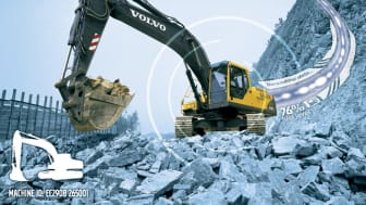 Volvo utrustar alla större maskiner med telematiksystemet CareTrack som standard