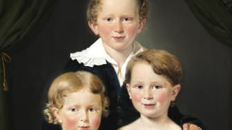 C.A. Jensen: Hans and Bolette Puggaard's three children. 1827. Signed. Oil on canvas. 82 x 64 cm. Estimate: DKK 400,000-600,000 / € 53,500-80,000.