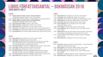 Libris förlag på Bokmässan 2018