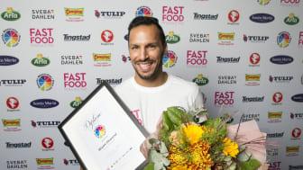 Årets vinnare Wisam Gharzoul .  Foto: Anders Deros