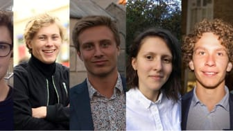 Gänget bakom Klimato: Anton Unger, Christoffer Connée, Henric Hansson, Lina Hanner Sanchez och Philip Claesson