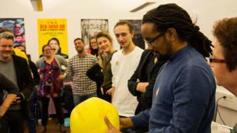 Film- och spelbranschen i södra Sverige ska utveckla en gemensam branschöverskridande plattform genom Region Skånes stöd till BoostHbg. Workshopar är en av flera aktiviteter i plattformsbygget. På bilden: Daniel Nandigobe. Foto: BoostHbg