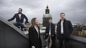 Teamet bakom Allihoop: Milad Barosen, Carolina Mistander, Samuel Gielis och Johan Outinen. Foto: Johanna Hanno