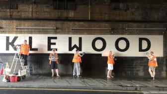 Cricklewood railway bridge cleaning