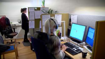 Socialförvaltningen i Helsingborg möter klienter i videosamtal.