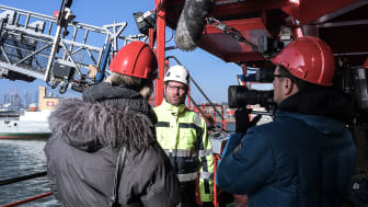 Interview with NDR at 'Esvagt Faraday'. Photo: NDR
