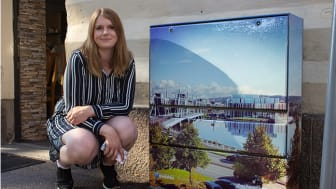 Emelie Thorsén, en av de glada vinnarna i årets omgång av tävlingen #mittelskåp.