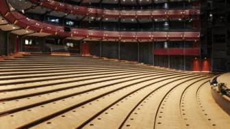 GöteborgsOperans salong efter att stolarna monterats ner och skickats till omklädning