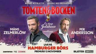 Måns Zelmerlöw och Per Andersson i Årets Julshow! Live på Hamburger Börs.