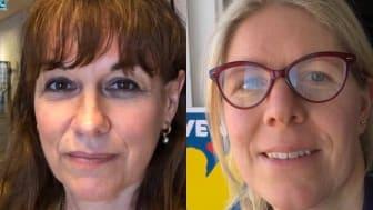 Maria Donis, VD, Svensk Fågel och Jenny Andersson, ordförande, Svensk Fågel