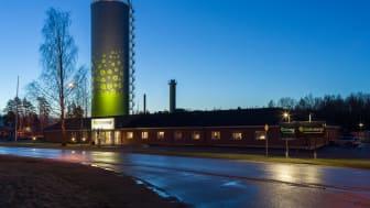 Linde energis huvudkontor på Skrinnargatan i Lindesberg. Foto: Linde energi.