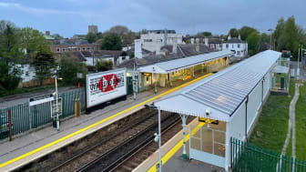 New platform canopies at Shoreham-by-Sea station - picture, Network Rail