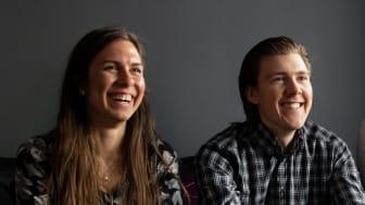 Isabella Tinnberg och Rasmus Kindberg, medarbetare på Xenit.