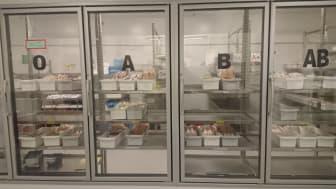 Blodlagret på Karolinska i Huddinge