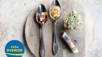 Recepten är framtagna av Klas Lindberg, Årets Kock 2012, av utmärkta svenska råvaror för Från Sverige, Svenskt Kött och LRF under Årets Kock 2019.