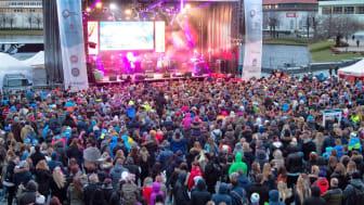P4s VINTERLYD TIL BERGEN: Lørdag kl. 14.00 braker det løs med stor konsert, lek og moro på Festplassen.