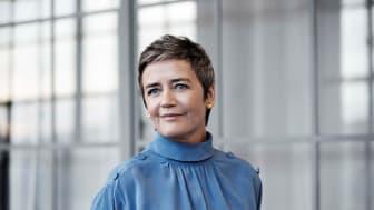 Mød bl.a. EU's konkurrencekommissær Margrethe Vestager på CLICK AI-dage, når hun taler om 'Kunstig intelligens i fremtidens Europa' i samtale med Anders Kjerullf. Foto: Stine Heilman