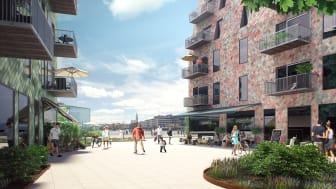 Nu byggs 450 lägenheter  vid Lindholmshamnen