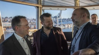 Left to right: Gunnar Pedersen, Svein David Medhaug, Øyvind Lund