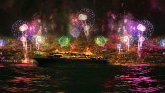 Black Watch in Funchal, Madeira - New Years Eve Fireworks