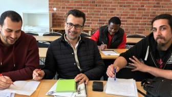 Studiemotiverade SFI-elever på Folkuniversitetet i Uppsala. Foto: Inka Wilhelmsson