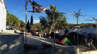 Flyktinglägret Moria som det såg ut innnan det eldhärjades.