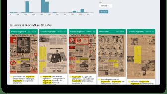 KB lanserar ny söktjänst för forskning i digitaliserade dagstidningar