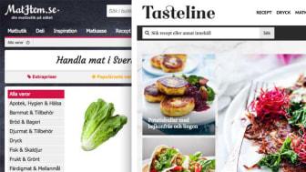 MatHem och Tasteline tar täten som Sveriges bästa matsajter