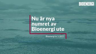 Nytt nummer av Bioenergi ute!