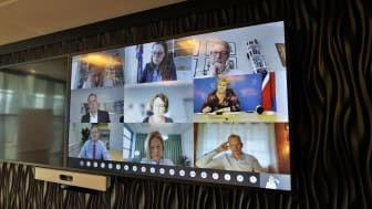Digital meeting with the Nordic CEOs and the prime ministers of Iceland and Norway