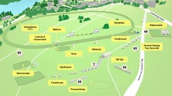 Inför ATG Nationaldagsgaloppen - karta, hålltider, fotopass