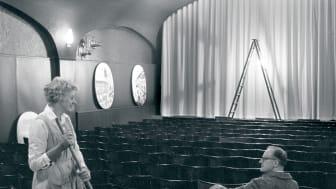 Interiör från biografen Smultronstället (tidigare Kronan) på Kungsgatan 31–-33, 1963.