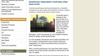 Plantagon på Invest in Sweden Agency