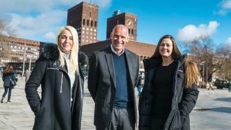 SmartOslo Accelerator er et program som vil gjøre byen smartere. Her ved Sopra Sterias Stina Birkeland, Oslo kommunes Geir Lippestad og Oslo Business Regions Silje Bareksten.