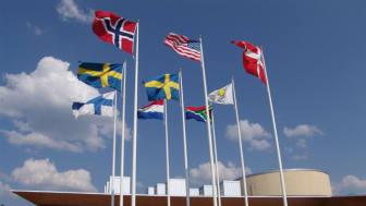 Europeiska flaggor vid Karlstads universitet