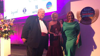 The awards were collected on behalf of Council by Mid and East Antrim's iESE representative Alderman Audrey Wales MBE and Chief Executive Anne Donaghy OBE.