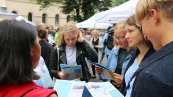 Studentslippet starter i hagen på St. Olavsgate 32, midt i Oslo sentrum. #finndittoslo (Foto: UiO)