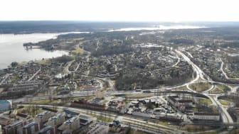 Flygbild över Karlskoga