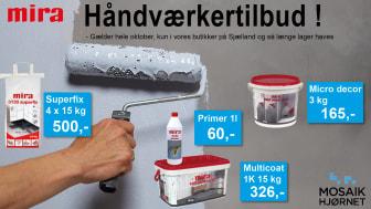 Håndværkertilbud fra Mira   KUN på Sjælland