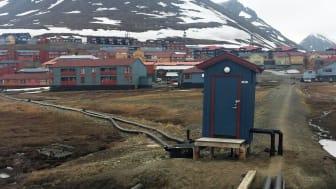 Pumpehus for avløp i Longyearbyen foto Dorte Herzke NILU