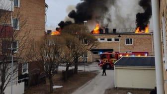 Brand i flerbostadshus i Öjebyn