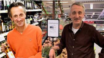 Stefan och Michal Wieloch, två ICA-handlare som tycker att det är viktigt att hjälpa de lokala producenterna.