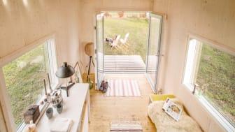"""Modell """"Hytte"""" mit nachhaltiger Fassade aus Kebony - innen und außen schön"""