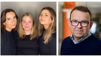 Aja Tomic, Ebba Hampusson, Julia Izarra på UF Jämställd Teknik och Peter Renkel, vd på Konftel.