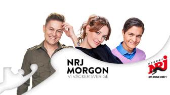 Niclas Wahlgren, Klara Doktorow och Messiah Hallberg väcker Sverige med NRJ Morgon.