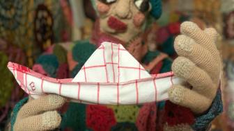 Detalj av textilverk av Elisabeth Bucht. Fotograf: Elisabeth Bucht