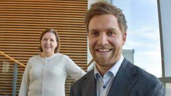 Konsernsjef Grethe Bergly og CDO Herman Bjørn Smith i Multiconsult er fornøyd med samarbeidsavtalen med Autodesk.